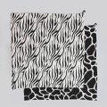 Látkové plenky - Mušelínové plenky velké WILD B&W Zebra&Giraffe, 2 ks - KLRK-SWDLR-BWZG-W