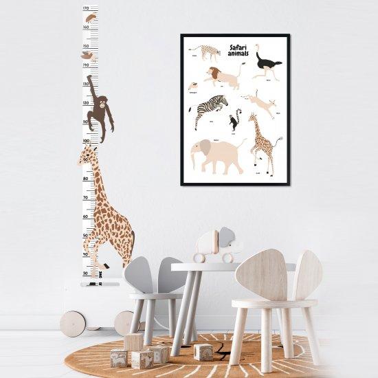 DEKORACE - Samolepka na zeď: Rostoucí metr Žirafa COLOR Wild, 1 ks - KLRK-RSTCMTR-ZRF-CLR