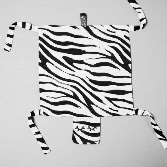 DOPLŇKY - GUSTAV - Mazlící dečka WILD B&W Zebra, 1 ks - KLRK-GSTV-BWZ-W