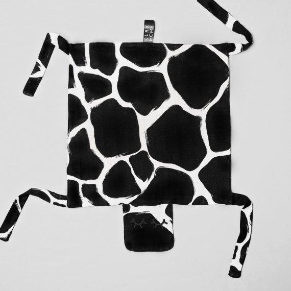 DOPLŇKY - GUSTAV - Mazlící dečka WILD B&W Giraffe, 1 ks - KLRK-GSTV-BWG-W