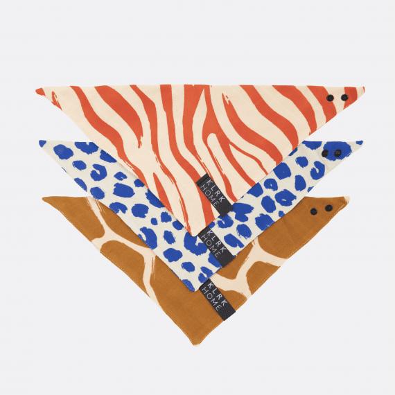 MÓDA - Dětský oboustranný šátek WILD COLOR, 3 ks - KLRK-BDNBB-CLR-W